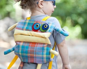 kids backpack, children backpack, toddler backpack, travelling backpack, monster backpack