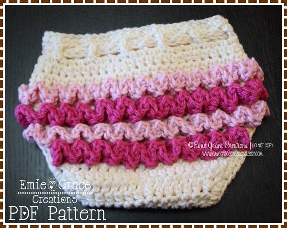 Diaper Cover Crochet Pattern Ruffle Buns Lily Pdf 709