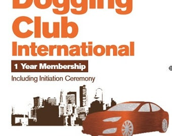 Prank Dogging Club Membership Funny Adult Novelty Joke Gift
