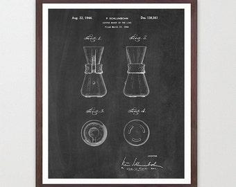 Coffee Patent - Coffee Maker - Kitchen Patent Poster - Kitchen Poster - Coffee Art - Patent Print - Patent Poster - Coffee Patent - Coffee