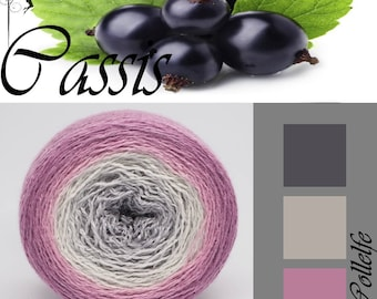 Cassis* Merino silk Gradient Yarn hand dyed - Lace weight