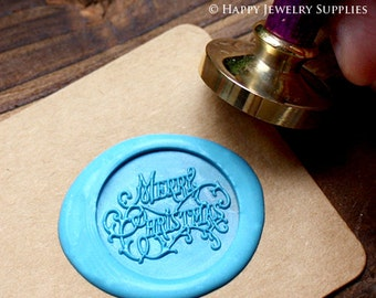 Buy 1 Get 1 Free - Wax Seal Stamp - 1pcs Merry Christmas Metal Stamp / Wedding Wax Seal Stamp / Sealing Wax Stamp (WS070)