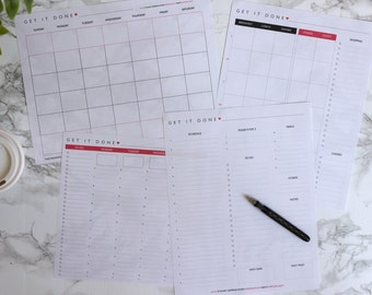 Get It Done Planner Sheets