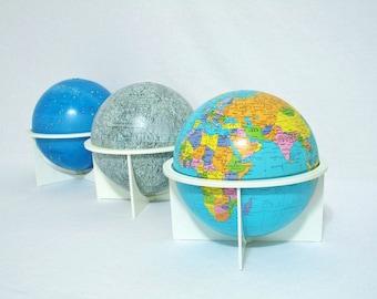 Vintage Globe Trio - Earth, Moon, and Celestial Globes - Replogle