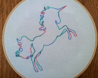 Unicorn Hand Embroidered Wall Hanging