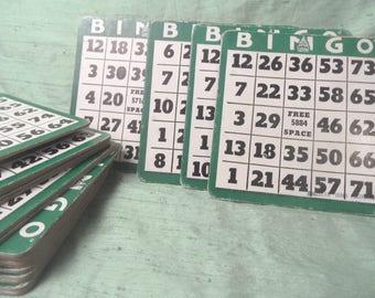 25 thick Bingo game boards / vintage sturdy cardboard