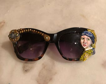 Girl With a Pearl Earring Sunglasses Art