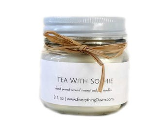 Scented Coconut Soy Candle In Tea With Sophie Scent - Country Candles