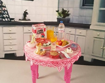 Miniature Breakfast Table Set