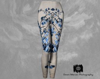 Art Leggings Leaf Art Print Leggings Womens