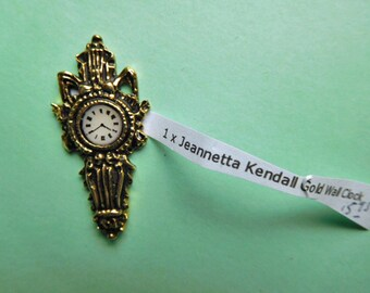 Jeanetta Kendall Miniature Gold Wall Clock, 1 Inch Scale