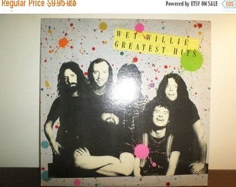 Save 30% Today Vintage 1977 Vinyl LP Record Wet Willie Greatest Hits Southern Rock Excellent Condition 7962