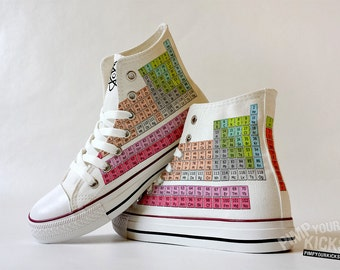 Periodic Table Custom Made Shoes