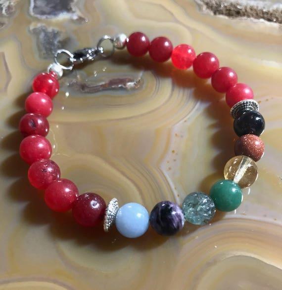 Chi Red Jade Chakra Bracelet