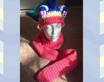 Greninja Hat / Scarf Crochet Pattern PDF