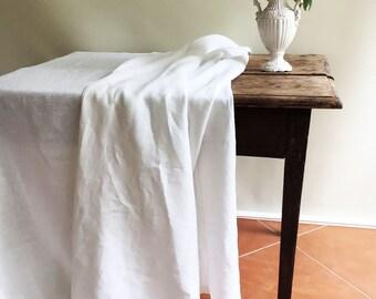 White Linen Table Cloth, Pure White Linen, Tablecloth Rectangle, Tablecloth Square Pure White Tablecloth linen Tablecloth Creamy White linen