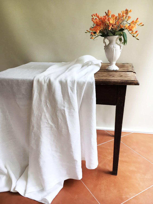 Superieur White Linen Table Cloth, Pure White Linen, Tablecloth Rectangle, Tablecloth  Square Pure White Tablecloth Linen Tablecloth Creamy White Linen