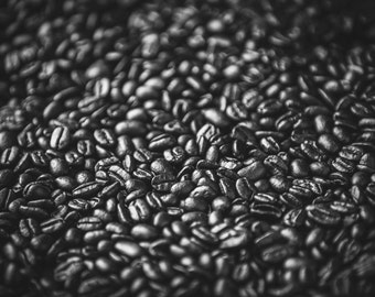 Beans - Artistic Photography - Rustic Home Decor - Coffee Photo Print