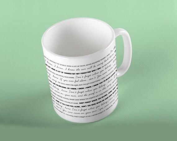 Coffee Mug Don't Forget Where You Belong Lyrics Mug - One Direction
