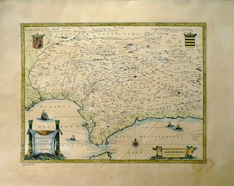 Andalucia/Sevilla/Cordoba - Cm. 70 x 50 Inches 27,6 x 19,7 - Water-coloured by hand. Since 1930s