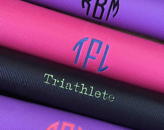 Monogramed yoga mat.