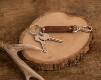 "Keychain leather ""Dandy"" available 3 colors"