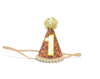 Birthday Party Hat || First Birthday Party Hat || 1st Birthday Party Hat || Gold Birthday Hat || 1st Birthday Decoration