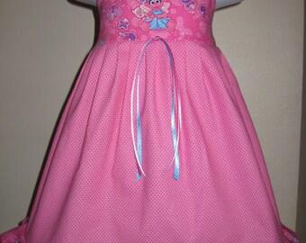 Boutique Sesame Street ABBY CADABBY Girls Dress 6mo 12mo 18mo 24mo 2t 3t 4t 5t 6yr - SarahsRainbow