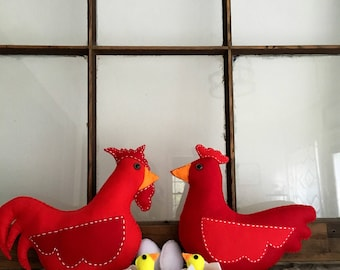 Felt Chicken family