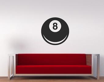 Lucky 8 ball Vinyl wall art sticker