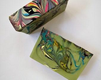Psychedelic: Cold Process Soap, Bar Soap, Handmade Soap, Vegan Soap