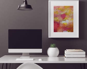Abstract Wall Art Print - Citrus Love 1 // Artist Charlie Albright // Blog Moments by Charlie | Modern Abstract Art Print