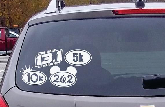 6 marathon 5k 10k 13 1 26 2 oval die cut vinyl decal
