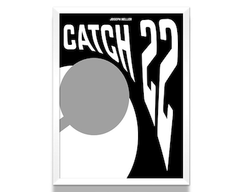 Catch 22 Poster, Art Print, Literary Gifts, Bookish, Gift for Her, Minimalist Poster, Wall Art Prints, Wall Decor, Book Lover Gift