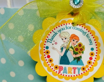 Frozen Fever tags, Frozen fever gift tags, Frozen fever toppers