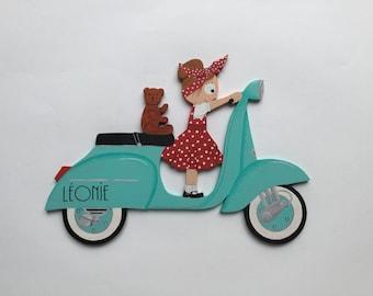Name wooden - vintage Scooter