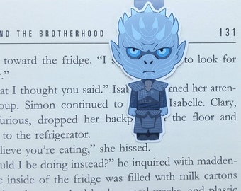 Night King - Magnetic bookmark - GoT || book lover gift, white walker, bookmark, game of thrones, bookish, bookmarks, magnetic bookmarks