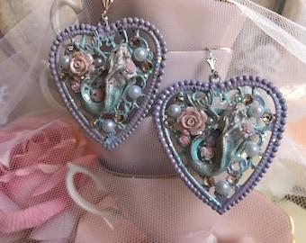 Heart Mermaid earrings