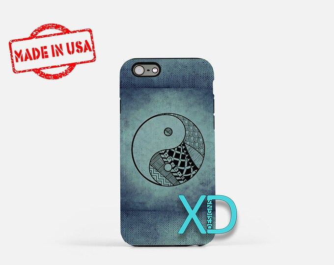 Artistic Yin Yang Symbol iPhone Case, Artistic Yin Yang iPhone 8 Case, iPhone 6s Case, iPhone 7 Case, Phone Case, iPhone X Case, SE Case