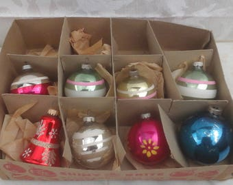 Vintage glass Christmas tree ornaments.
