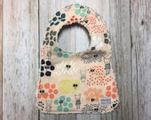Baby Girl Bib in Flower Shop Fabric - Baby Shower Gift-...