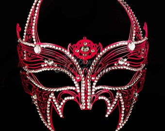 Masquerade Mask, Wolverine Costume Mask, Marvel Cosplay Mask, Metal Masquerade Mask [Hot Pink]