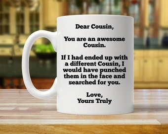 gift for cousin, personalized cousin gift, custom cousin mug, funny gifts for cousin, cousin gift, birthday cousin, cousin novelty mugs