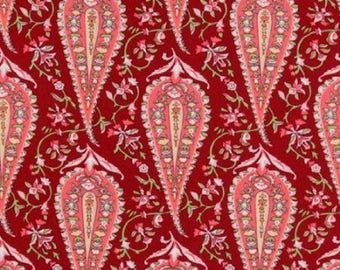 Amy Butler Cypress Paisley Wine Maroon,  LOVE Collection, Fat Quarter Quilt Fabric Sewing Fabric Retro