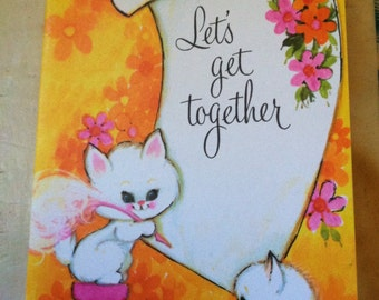 """Vintage 90's  """"PLEASANT THOUGHTS""""  Party Invitation Cards  a Division of Gibson Greeting Cards"""