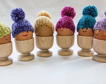 Egg Cosies set of 6 wonderfully coloured egg cosies, hand knitted, Easter Egg Cosy, egg warmers
