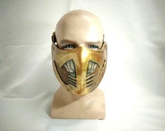 Leather Mask Replica Scorpion Mortal Kombat X