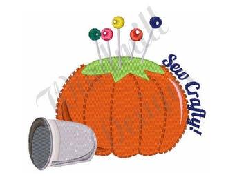 Pumpkin Pin Cushion - Machine Embroidery Design