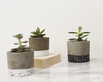 Concrete Planter, Indoor Planter, Concrete Decor, Cement Plant pot, Concrete Pot, Succulents Planters, Round Planter, Cactus Planter