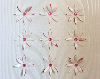 """Frame with small flowers in Relief """"Delicate"""" parsonnalisables 3 D effect"""